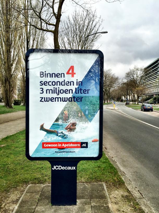 Mupi's citymarketing campagne Gewoon in Apeldoorn
